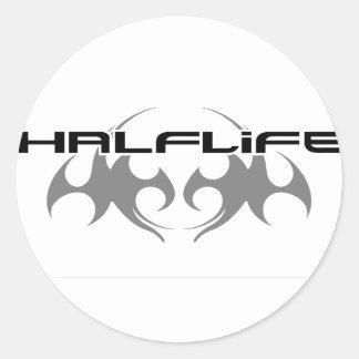 HALF-LIFE GREY LOGO CLASSIC ROUND STICKER