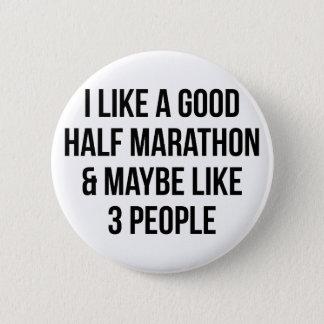 Half Marathon & 3 People 2 Inch Round Button