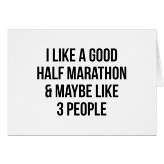 Half Marathon & 3 People Card