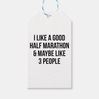 Half Marathon & 3 People Gift Tags