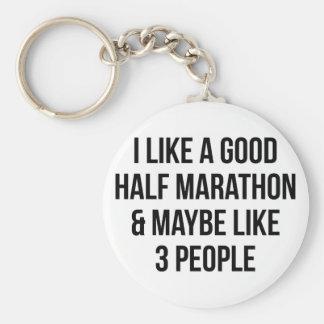 Half Marathon & 3 People Keychain