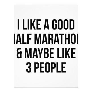 Half Marathon & 3 People Letterhead