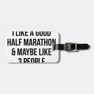 Half Marathon & 3 People Luggage Tag
