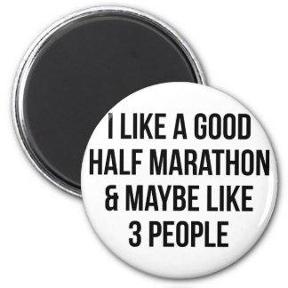Half Marathon & 3 People Magnet