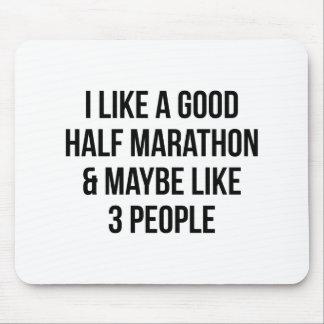 Half Marathon & 3 People Mouse Pad