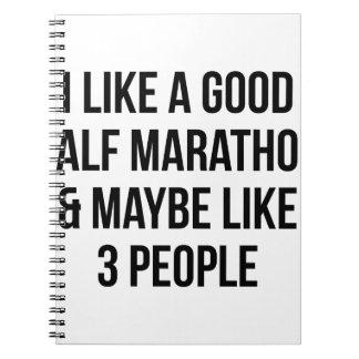 Half Marathon & 3 People Notebooks