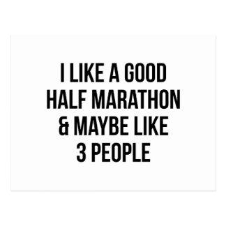 Half Marathon & 3 People Postcard