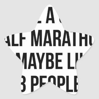 Half Marathon & 3 People Star Sticker