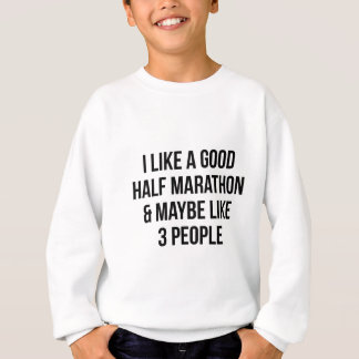 Half Marathon & 3 People Sweatshirt