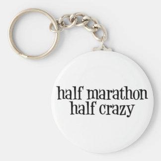 half marathon, half crazy keychain