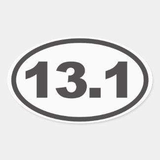 Half Marathon Oval Decal Oval Sticker