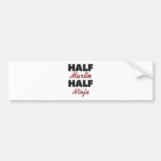 Half Marlin Half Ninja Bumper Sticker