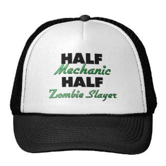 Half Mechanic Half Zombie Slayer Trucker Hat