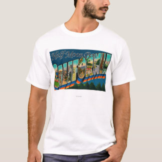 Half Moon Bay, California - Large Letter Scenes T-Shirt