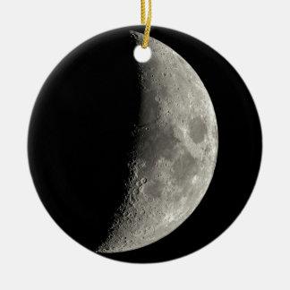 Half Moon Ceramic Ornament