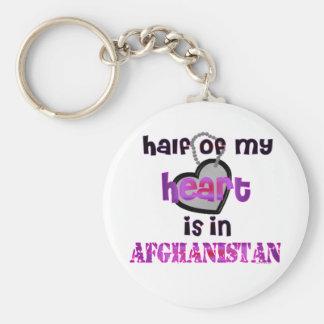 HALF MY HEART AFGHANISTAN KEYCHAIN