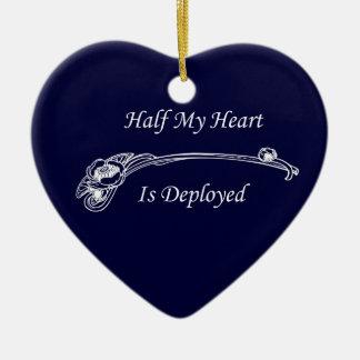 Half My Heart is Deployed Ceramic Ornament