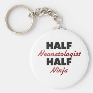 Half Neonatologist Half Ninja Keychain