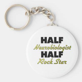 Half Neurobiologist Half Rock Star Keychain
