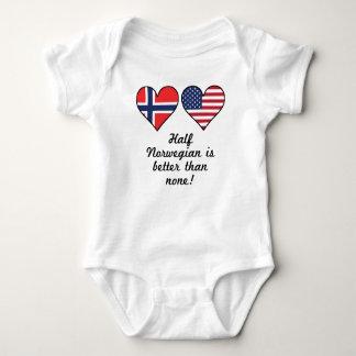 Half Norwegian Is Better Than None Baby Bodysuit