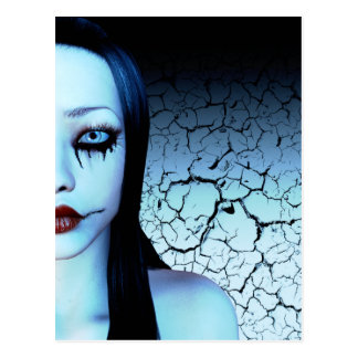 Half Of Me Goth Art Postcard