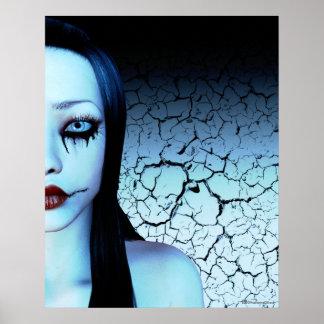 Half Of Me Goth Art Poster