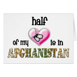 half of my heart...afghanistan 2 card