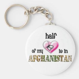 half of my heart...afghanistan 2 keychain