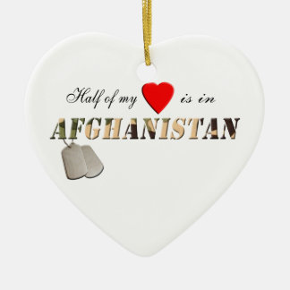 Half of my Heart is in Afghanistan Ornament