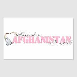 Half of my heart is in Afghanistan Sticker
