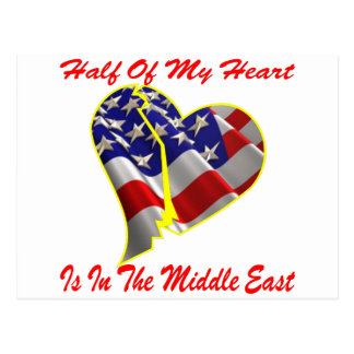 Half Of My Heart Is In The Middle East Postcard