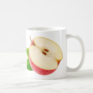 Half of red apple coffee mug