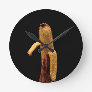 Half Peeled Banana Still Life Wallclock