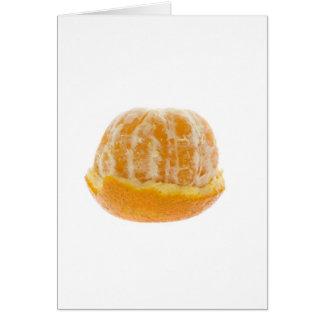 Half peeled mandarin orange card