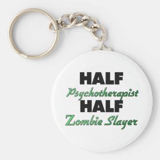 Half Psychotherapist Half Zombie Slayer Keychain