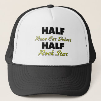 Half Race Car Driver Half Rock Star Trucker Hat