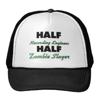 Half Recording Engineer Half Zombie Slayer Mesh Hats