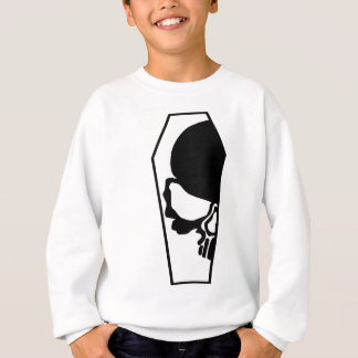 Half Skull in Coffin Sweatshirt
