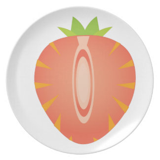 half strawberry plate