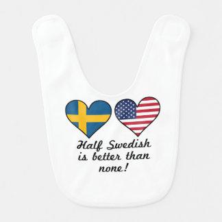 Half Swedish Is Better Than None Bib