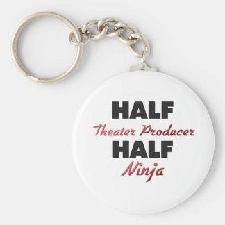 Half Theater Producer Half Ninja Basic Round Button Keychain
