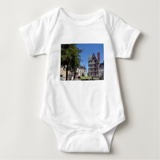 Half-timbered house in Angers Baby Bodysuit