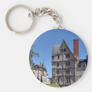Half-timbered house in Angers Keychain