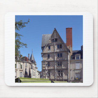 Half-timbered house in Angers Mouse Pad