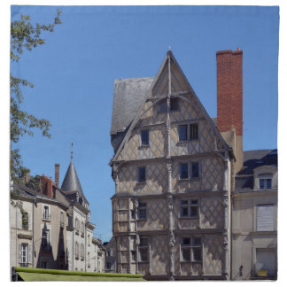 Half-timbered house in Angers Napkin