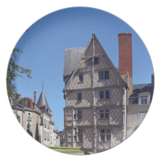 Half-timbered house in Angers Plate