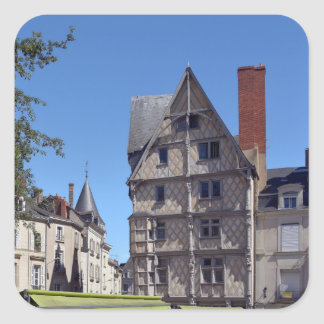 Half-timbered house in Angers Square Sticker