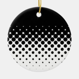 Half Tone Ceramic Ornament
