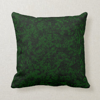 Half-Tone Forest Green Throw Pillow