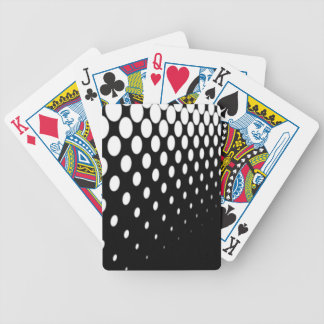 Half Tone Perspective Bicycle Playing Cards